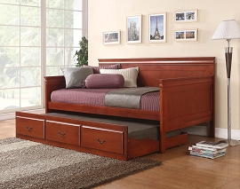 Cherry Finish Wooden Day Bed