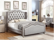 Leatherette Mettalic Bed Frame