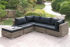 5pcs Patio Sofa Sectional