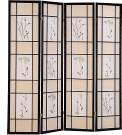 Black Finish transitional Room Divider