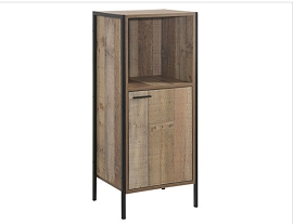 Low Tower Cabinet - Rustic Oak