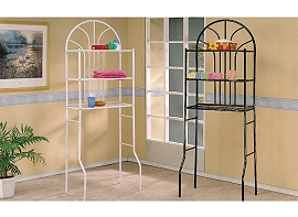 Black or White Metal Bathroom Rack