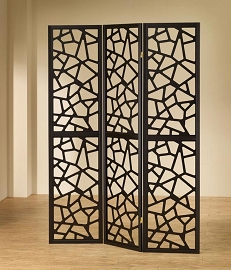 Black Finish Contemporary Room Divider