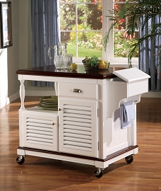 Kitchen Cart (Cherry/White)