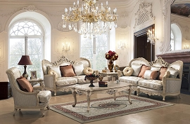 2 Pcs Ivory Elegant living Room Set