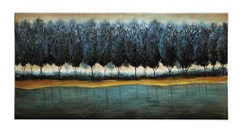 Blue Forest  Wall Painting