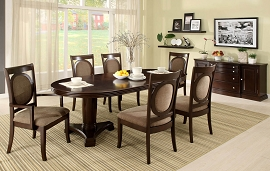 7 Piece Walnut Finish Contemporary Dinette Set