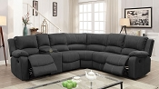 Monique Black Sectional Recliners