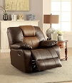 Dark Brown & Light Brown Pollux Recliner