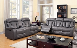 2 Pcs Recliner Sofa Set - Grey