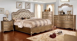 Brushed Gold Finish Capella Bed Frame