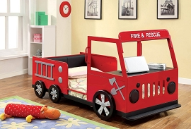 Fire and Rescue Truck Twin Bed