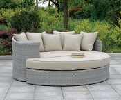Calio Round Patio Sofa and Ottoman