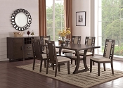 Ebony Finish Wood 5 Pcs Formal Dining Set