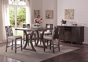 Ebony Finish Wood 5-PC Counter Height Table Set