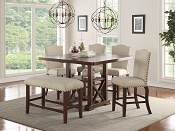 6 Pcs Counter Height  Dining Set with Bench