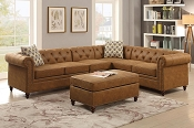4 Pcs  Breathable Leatherette Sectional- color option
