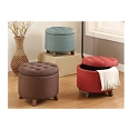 Linen Cocktail Ottoman - color option