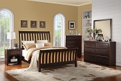 Espresso Finish Slay Bed