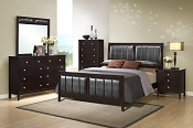 Wooden Master BedFrame with Bonded Leather