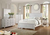 Black or White Queen Wooden Bed Frame