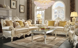 2 Pcs Antique Style Sofa Set