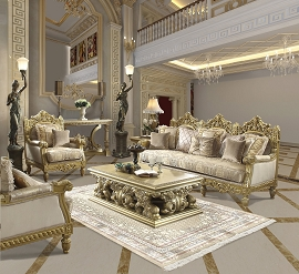 Persian Style Golden Sofa