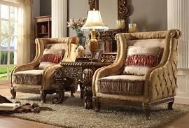 2 Pcs Antique Style Accent Chairs