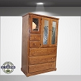 Large Solid Pine Tall Closet