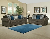 Razor Grey and Turquoise Living Room Sofa -color option