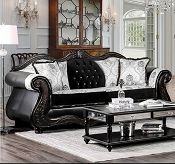 Tabatha Sofa - Black with White Accents