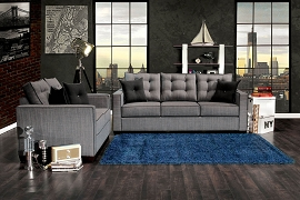 2 Pcs Gray Sofa Set