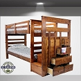 Solid Wood Twin Bunk with Stair case