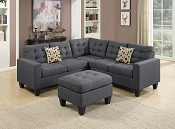 3pc Sectional with Ottoman - color options