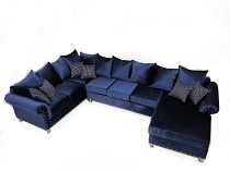 Cloud Blue Sectional with Chaise