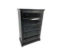Black Finish Solid Pine chest- any color
