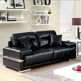 ZIBAK - 2PC Breathable Leatherette Sofa Set