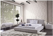 Grey Modern Platform Bed Frame- Dark or Light