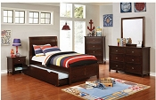 Dark Cherry Brogan Youth Bed Frame