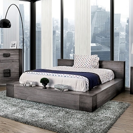 Janeiro Rustic Grey Bed Frame