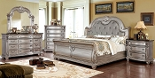Traditional Style Champagne Finish Bed Frame