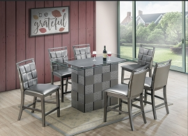 7 Pcs Counter Height Table Set