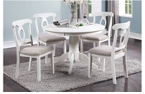 5-PC DINING SET--WHITE