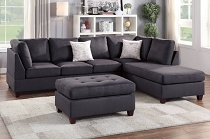 3PCS Sectional (Ottoman Included) - color options