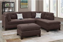 3-PC Brown SECTIONAL  ( out of stock ETA in 10 days of	2020-11-23 )