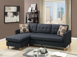 Compact Linen Sectional - select color option