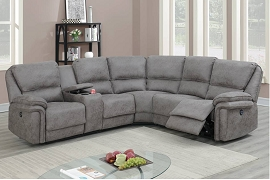 Dark Brown or Antique Grey Power Motion Sectional