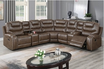 3 pcs  Recliner sectional set with 2 consoles ( option Power or handle)  ETA in 10 days of	2020-11-02