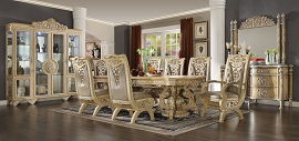 Ivory Finish Dining Set Homey Design Victorian, European & Classic Design