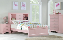 Full White/Pink Bed